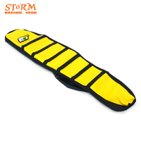 Yellow Striped Soft Gripper Rubber Seat Cover For SUZUKI RM125 RM250 RM 125 250 1996 1997