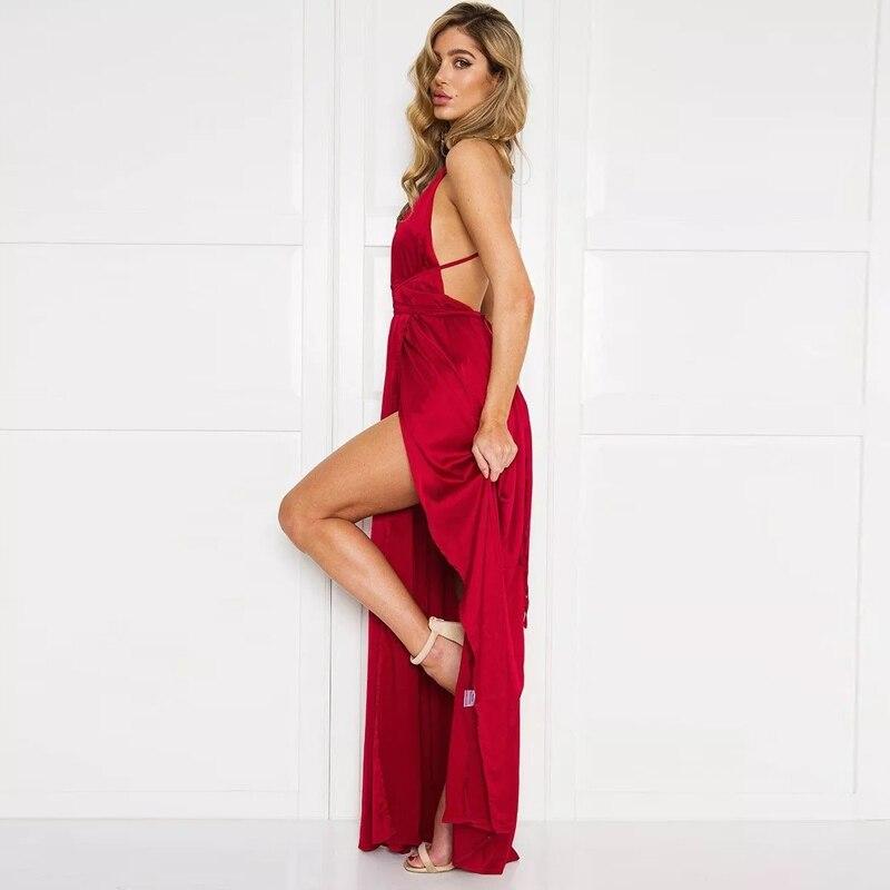Aliexpress.com : Buy Sexy Strap Satin Backless Women Maxi Dress ...