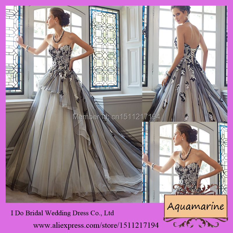 2014 Latest Design Wedding Bridal Ball Gown Sweetheart Lace Up Back ...