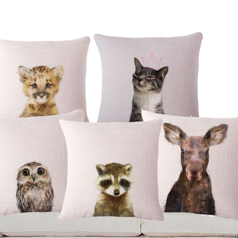 ᐅSquare 40 Pillow Cases Home Decor Decorative Pillows Dog Animal Custom Decorative Pillows Dogs