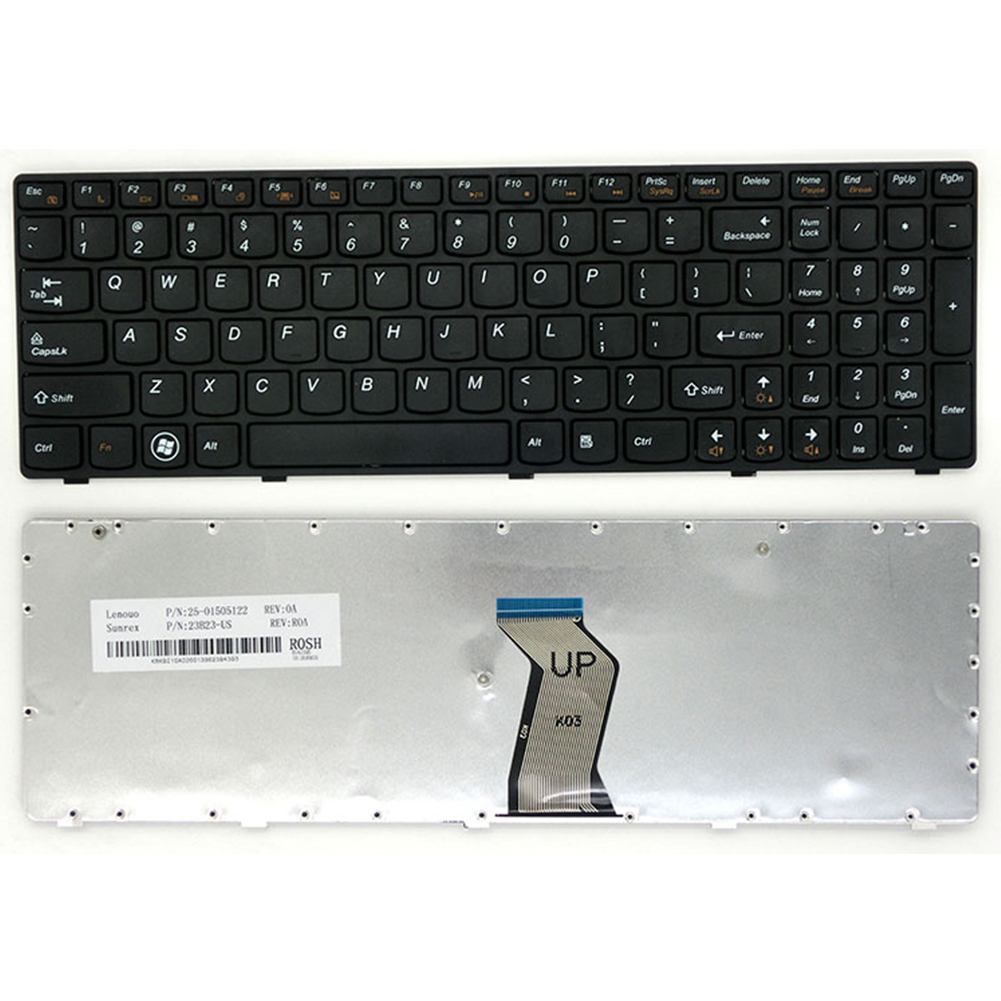 Black Laptop Keyboard Laptop Accessories For  Lenovo G580 / Z580A / G585 / Z585 / B580 / G780 / G590 Replacement Keyboar