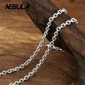 Thai Silver 2.5mm Link Chain Necklace New Fashion 100% Authentic 925 Sterling Silver Necklace Women Men jewelry