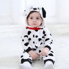 2e2181e9d Bebé perro Kigurumi pijamas ropa de bebé recién nacido mameluco Onesie  Animal Cosplay traje con capucha mono traje de invierno