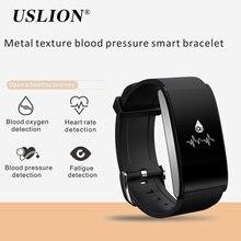 USLION A58 Bluetooth Smartband Часы Сердечного Ритма Артериального Давления Фитнес-Трекер Браслет IP67 Водонепроницаемый Браслет