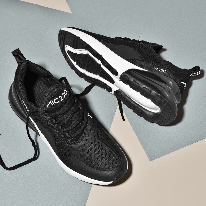 online retailer 5769a eeb5c VIPBQO 2018 New Hot Air 270 Mens Women Running shoes Flair Triple Black 27C  Racer Basketball Couple Breathable shoes 5 12-in Running Shoes from Sports  ...