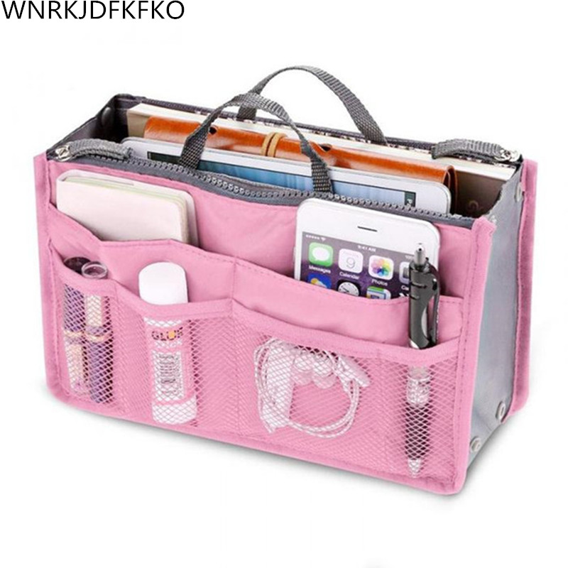 Organizer Insert Bag For Women Nylon Travel Organizer-Insert Bag Bag-Organizer Lady Makeup Cosmetic Bag Cheap Womens Tote