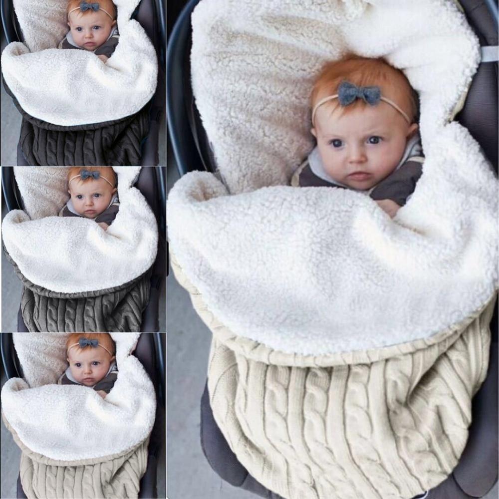 Universel bébé poussette chancelière chaud hiver enveloppe enfants épais doux coupe-vent pied couverture bébé poussette accessoires
