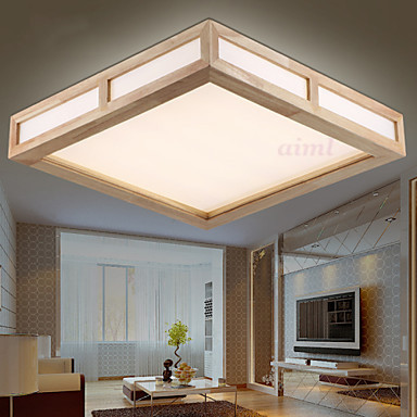 Freies Verschiffen Moderne wohnraumbeleuchtung holz wohnzimmer ...