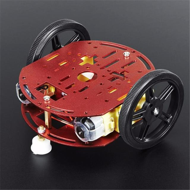 FEETECH Starter Kit Intelligent Robot Voiture FT-DC-002 Tige Jouets Châssis Kit Moteur éducatifs construire RC voiture pour arduino Diy Cadre kit
