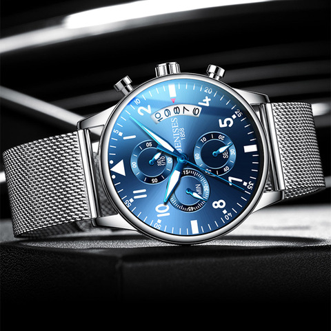 Man Wrist Watch 2019 Luxury Brand Men Watch Male Clock Business Classic Quartz Sport Chronograph Watch For Men Relogio Masculino Multan