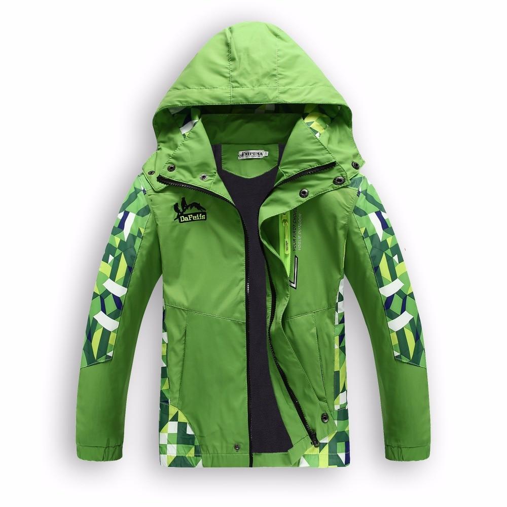 Children Outerwear Warm Polar Fleece Coat Kids Clothes Waterproof Windproof Baby Boys Girls Jackets For 4-15 T Autumn Spring