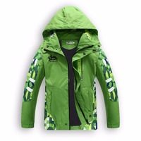 Children Outerwear Warm Polar Fleece Coat Kids Clothes Waterproof Windproof Thicken Boys Girls Jackets For 4