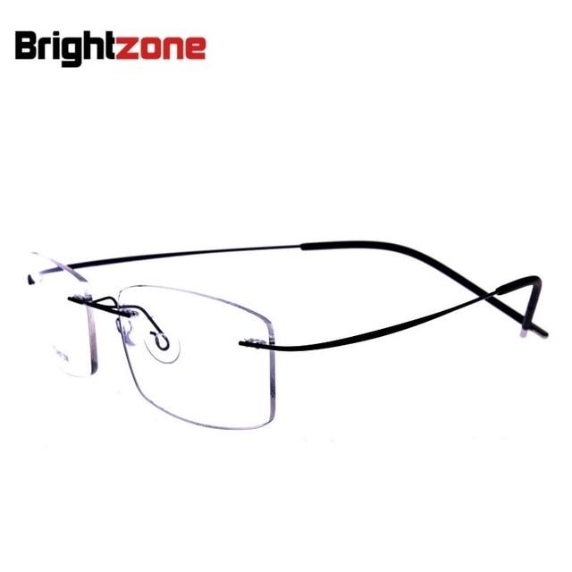 48ad5d3b2e9 Brightzone 2017 Donne di Modo Memoria Occhiali Senza Montatura Occhiali In  Titanio Telaio Miopia Ottica Quadrato