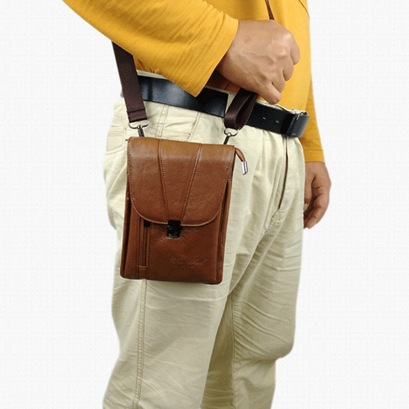 Genuine Leather Small Messenger Shoulder Crossbody Bags for Men Waist Belt Bag Male Fanny Pack Phone Pouch Wallet Bag sac banane genuine leather fashion men waist belt bags small fanny pack phone pouch wallet brand messenger shoulder bag travel waist pack