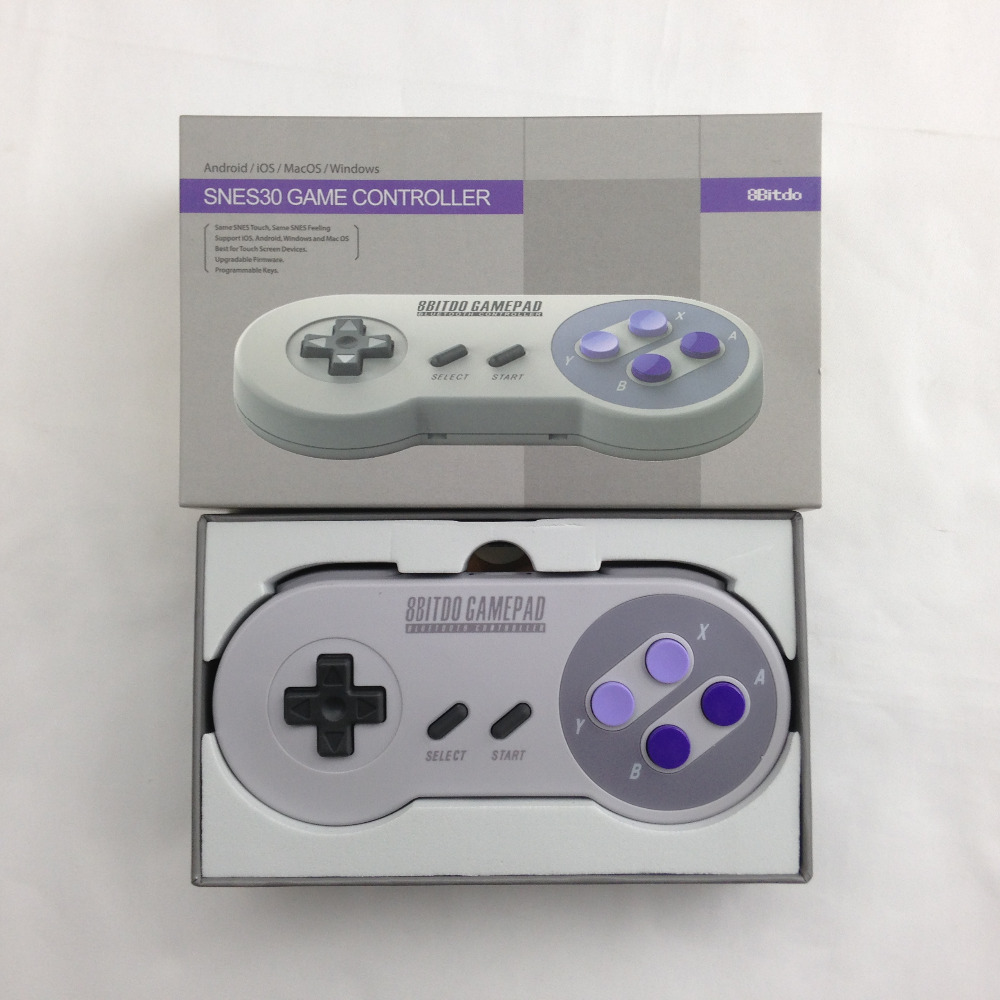 8Bitdo SNES30 Bluetooth Wireless Gamepad Pro Game Controller Design Programmable Key for iOS Android PC Mac Linux 50pcs new for snes controller extension cable for super nintendo for fami com consoles 6ft
