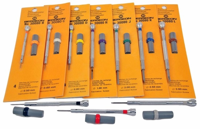 1pc Bergeon Watchmaker Screwdriver 30080 with Replacement Tips Free Shipping
