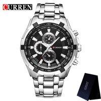Relogio CURREN Mens Watches Top Brand Luxury Male Business Clocks Sport Military Clock Steel Strap Quartz