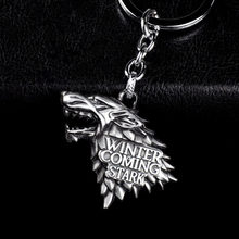 Fashion Anime Game of Thrones Keychain For Men Trinket Portachiavi Car Keyring Key Chain Ring Chaveiro Jewelry Gift Souvenirs(China)