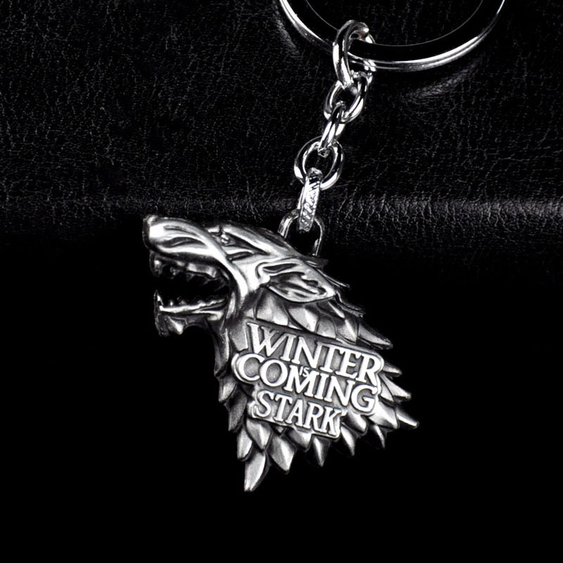 Fashion Anime Game of Thrones Keychain For Men Trinket Portachiavi Car Keyring Key Chain Ring Chaveiro Զարդերի նվեր հուշանվերներ