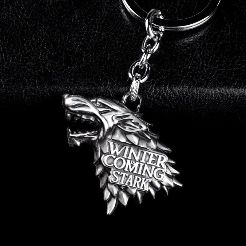 Fashion Anime Game Of Thrones Keychain For Men Trinket Portachiavi Car Keyring Key Chain Ring Chaveiro Jewelry Gift Souvenirs