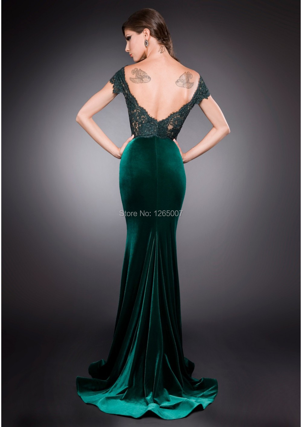 628f6148ab6 Forest Green Winter Formal Dress
