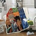 Поттер Сказочный принт шерпа одеяло бархатное плюшевое пледы Флисовое одеяло покрывало на диван квилт для софы покрытие для путешествий по...