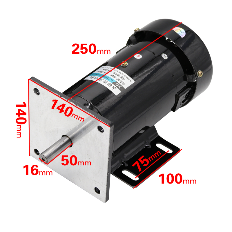 220v permanent magnet dc motor 1800 4500 rpm high speed for 500 rpm electric motor