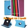 Мода Для Ipad air2 ipad 6 Личи стиль 360 Вращающийся PU кожа Стенд дело обложка Для apple ipad air 2 Ipad6 Tablet ПК