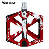 WEST BIKING 3 Bearings Bike Pedals Aluminum Alloy Anti-slip Cycling Pedal MTB Road Bike Parts Hollow Large Area Bicycle Pedals