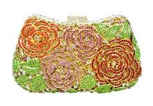 Rabatt, großhandel, benutzerdefinierte geldbörse Kristall Abendtasche Hochzeit Handtasche Paket Bankett Kupplung 88388