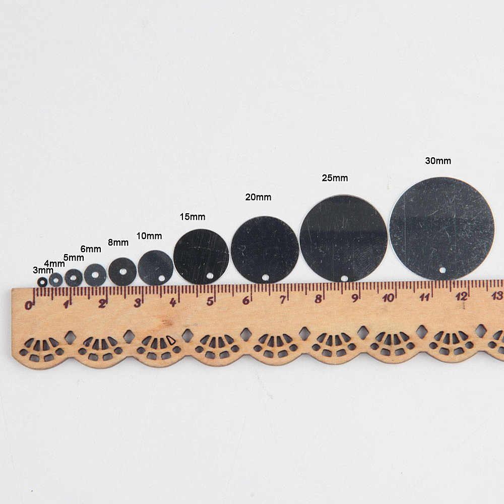 Блестки черные блестки 3 мм-30 мм ПВХ плоские круглые тусклые Лаки тесьма с пайетками для шитья свадебные ремесла Женская одежда Аксессуары