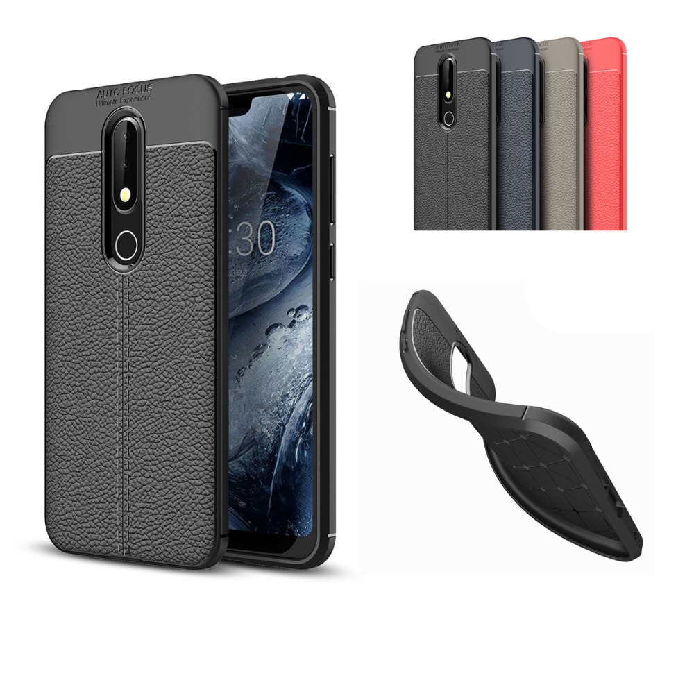 Soft Silicon Litchi TPU Case For Nokia 1 2 3 5 Rugged Armor Defender Casing For Nokia 8 Sirocco 6 2018 7 Plus X6 Luxury Covers nokia 8 new 2018