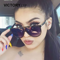 Women Sunglasses Brand Designer CatEye Hot Sun Glasses Female Popular Fashion 2017 New Superstar Retro VictoryLip