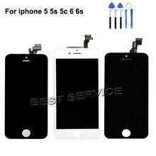 Grade AAA pas de Pixel mort pour iPhone 6 5 5S 5C 6s écran LCD avec écran tactile numériseur assemblée noir blanc