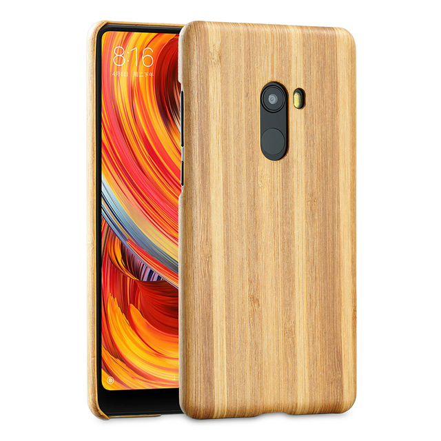 Natural Wooden phone case FOR Xiaomi mi mix 2 mix2 case cover bamboo