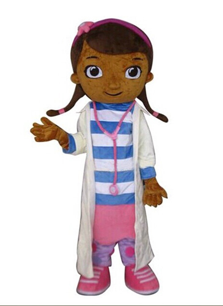 Dottie McStuffins Doc McStuffins Mascot Costume Adult Size Classic Party Costumes Fancy Dress Suit Free Shipping