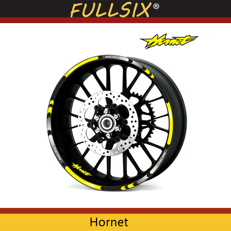 7 Style Motorcycle Wheel Tire Rim Stickers 17 Inch Wheel Fit For Honda Hornet CB400 CB599 CB600 CB750 CB900 CB919 CB1000R