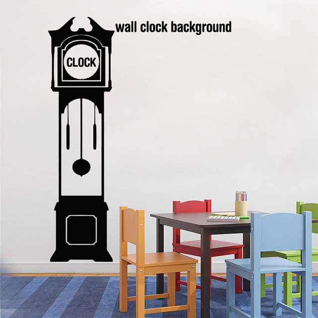 personalised grandfather clock silhouette wall decal clock