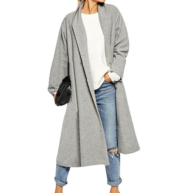 8a6f78d0136 Womens Open Front Trench Coat Long Cloak Jackets Overcoat Waterfall  Cardigan Sexy Women Blouses Autumn Plus Size Oversized Blusa