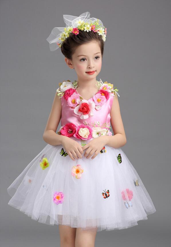 Платье для балета с блестками для девочек; нарядное детское платье для бальных танцев и сценических танцев; детское платье-пачка для выступлений в джазовом стиле - Цвет: Розовый