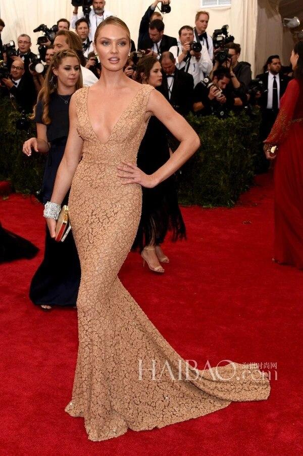 New Summer Style Candice Swanepoel Beautiful Celebrity Dresses Mermaid V Neck Lace Long Red Carpet Dresses Jennifer Lopez Dress Carpet Inlay Carpet Moldingdress Xl Aliexpress