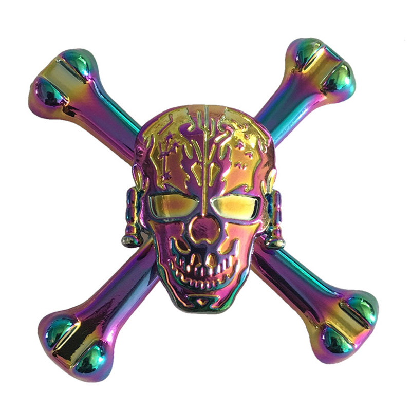 Big Ghost Bone Colorful Fidget Spinner EDC Hand Spinners Autism ADHD Kids Christmas Gifts Metal Finger Toys Spinners