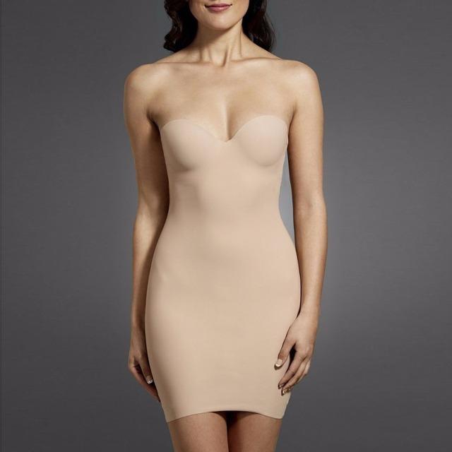 Victoria's Masqurade Women's Sculpt Strapless Contour Bra Slip Dress Sexy Smooth Seamless Shapewear Full Slips For Women