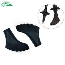 10Pcs Anti-Slipping Walking Stick Tip Pole Protectors Replacement Rubber Tips For eldely Trekking Poles Accesories Nordic Cane