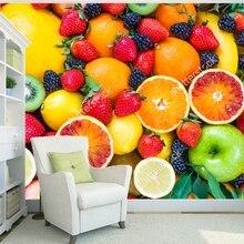 Обои с фруктами, свежие фрукты, фруктовая смесь, 3D современная фотообои для гостиной ресторан магазин фоновые обои
