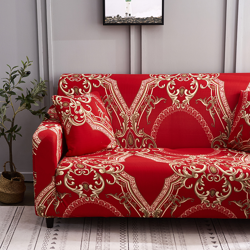 Image 3 - Спандекс чехлы для диванов стрейч чехол для секционного дивана диван набор диванных чехлов для гостиной диван housse количество, диванное покрывало, 1/2/3/4 местный-in Покрывало на диван from Дом и животные