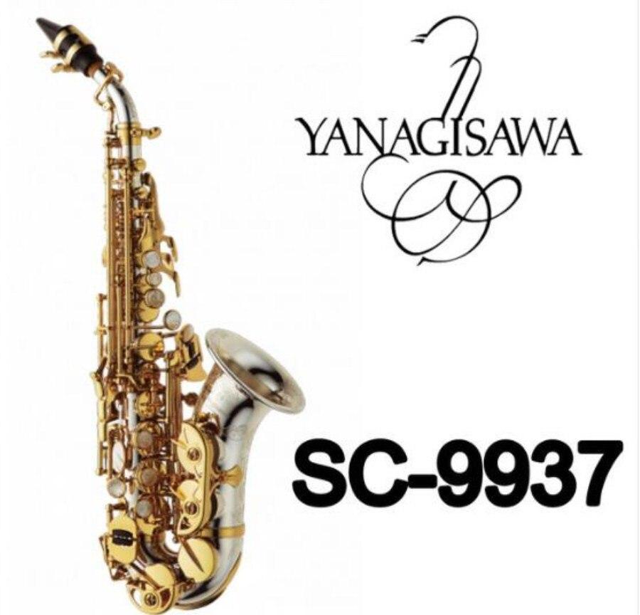 Бренды Янагисава изогнутые сопрано SC 9937 серебрение латунь саксофон профессиональный мундштук патчи колодки Reeds изгиб шеи