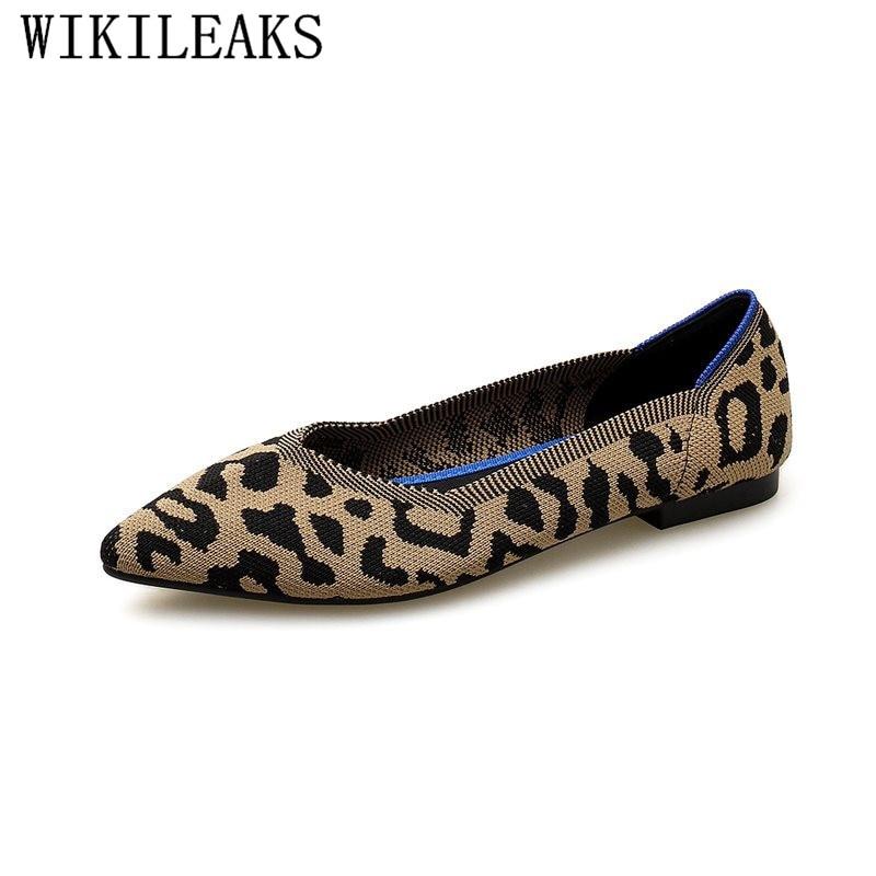 2020 Designer Leopard Women Shoes Luxury Brand Flat Shoes Women Spring Autumn Women Flats Ladies Slip On Shoes For Women Loafers