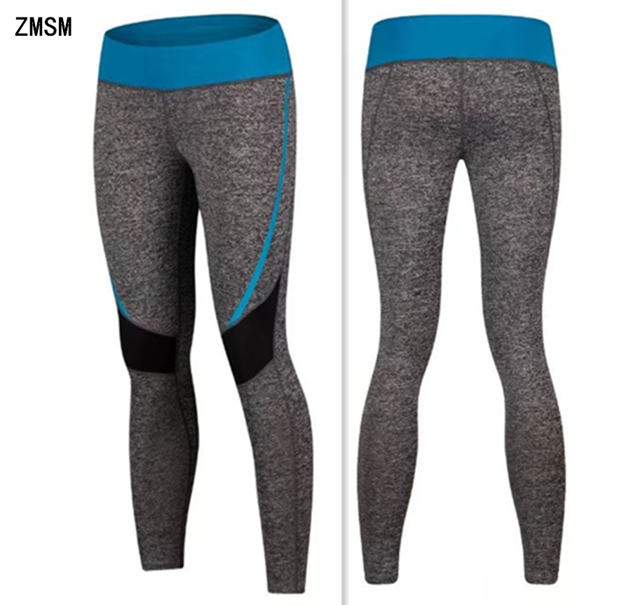 ZMSM Women Running Pants High quality Quick Dry Yoga Pants Elastic Fitness Gym Pants Workout Tight Sports Leggings Trousers K303