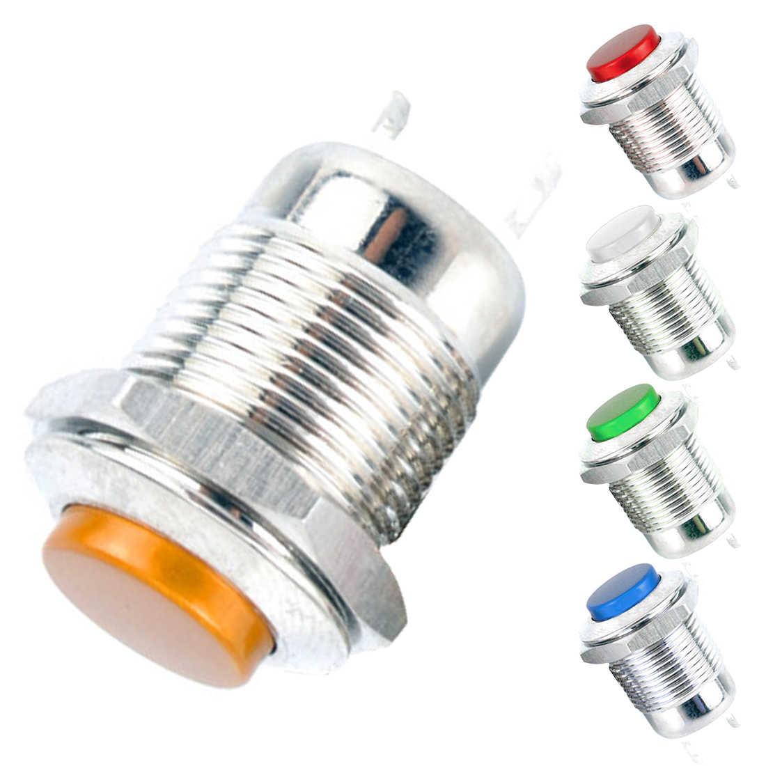 Высокое качество 12 мм с светодио дный 3 В 5 В 12 В 24 В 220 В металла переключатель кратковременное нажатие кнопка автоматического сброса Водонепроницаемый с подсветкой